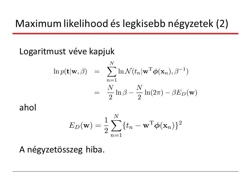 Maximum likelihood és legkisebb négyzetek (2)
