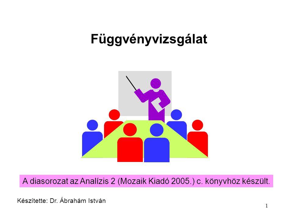 Függvényvizsgálat A diasorozat az Analízis 2 (Mozaik Kiadó 2005.) c.