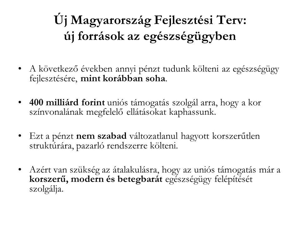 Új Magyarország Fejlesztési Terv: új források az egészségügyben