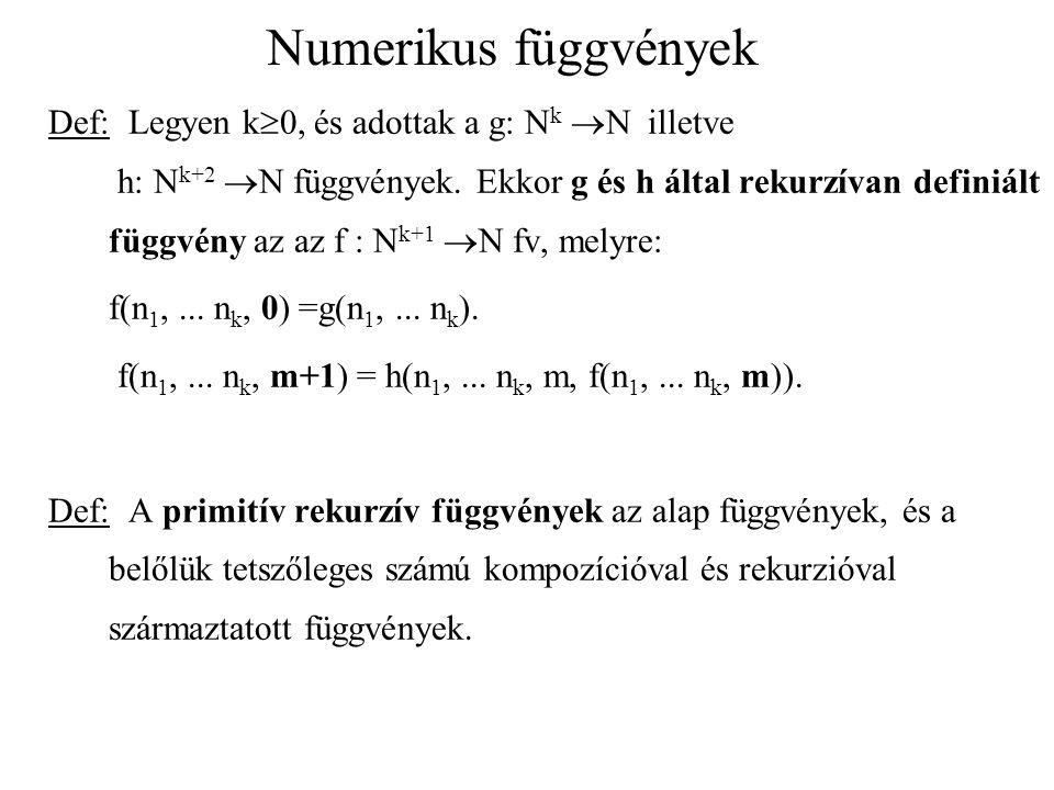Numerikus függvények