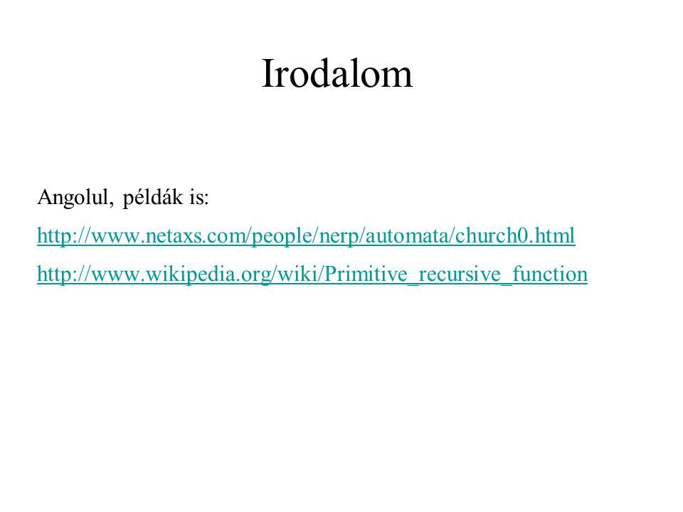 Irodalom Angolul, példák is: