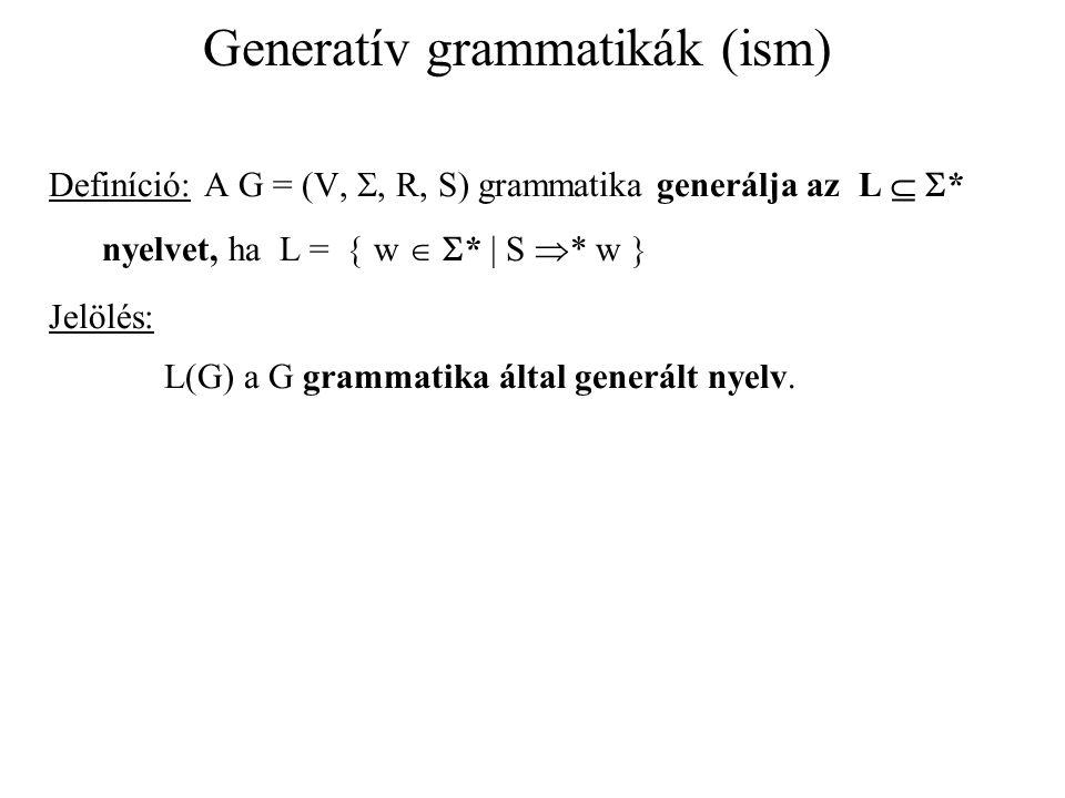 Generatív grammatikák (ism)