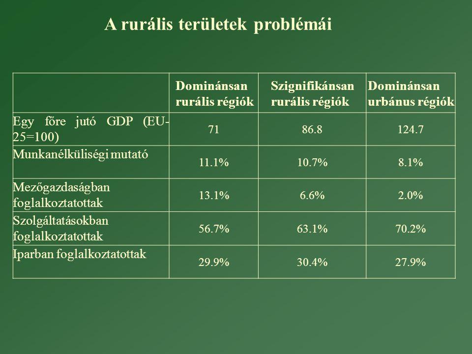 A rurális területek problémái