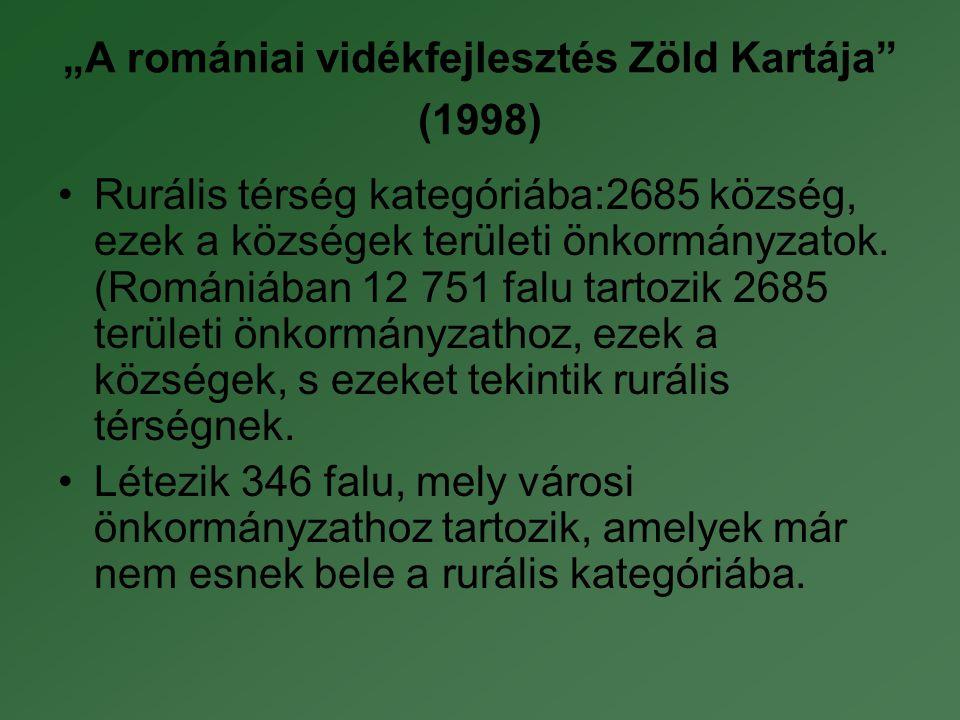 """""""A romániai vidékfejlesztés Zöld Kartája (1998)"""