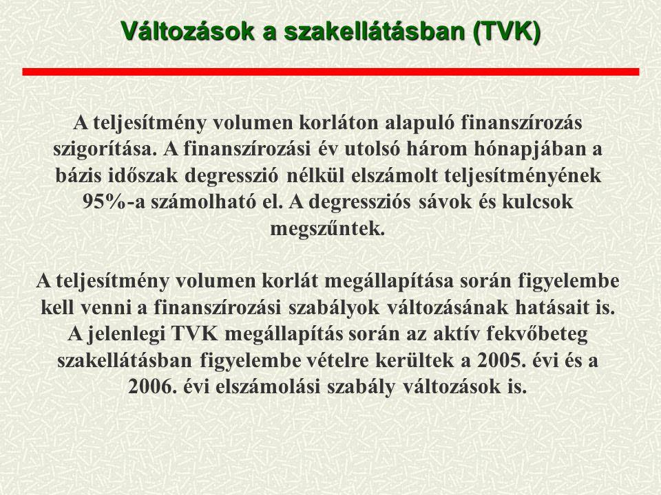 Változások a szakellátásban (TVK)