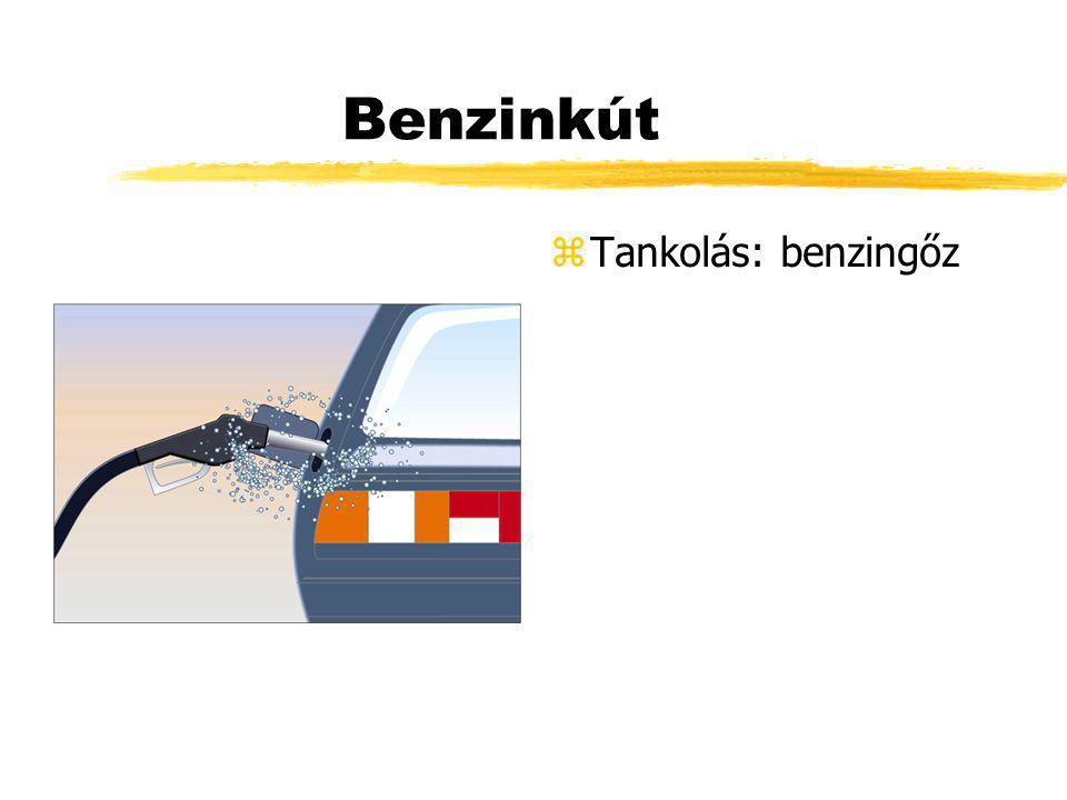 Benzinkút Tankolás: benzingőz