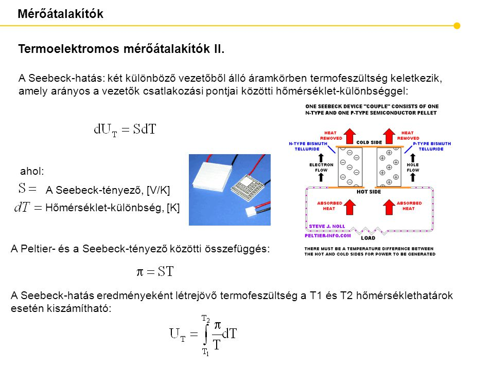 Termoelektromos mérőátalakítók II.