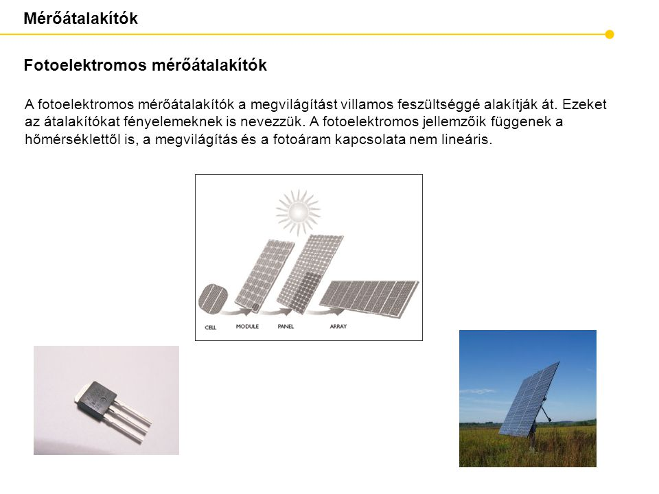 Fotoelektromos mérőátalakítók