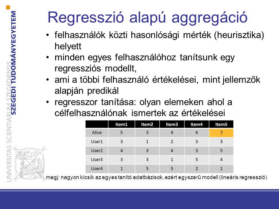 Regresszió alapú aggregáció