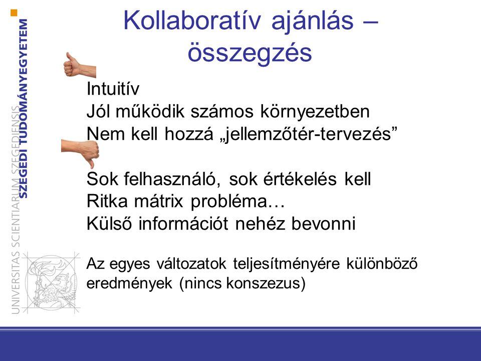 Kollaboratív ajánlás –