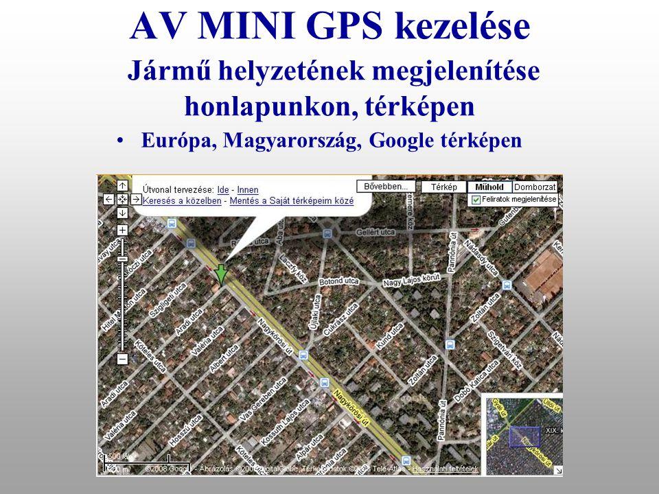 Európa, Magyarország, Google térképen