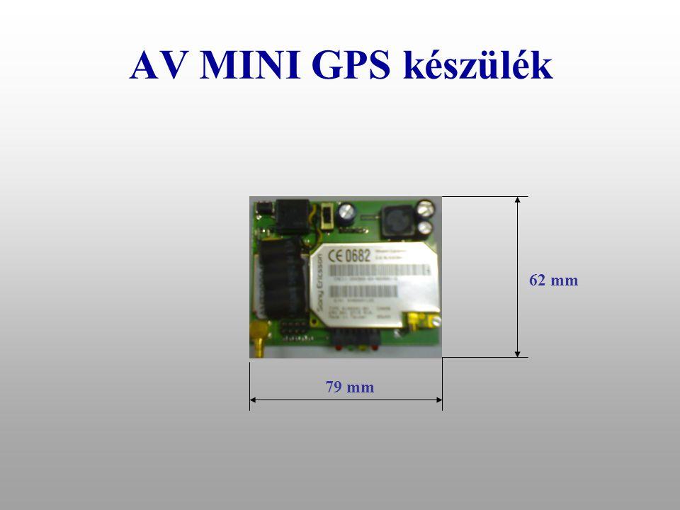 AV MINI GPS készülék 62 mm 79 mm