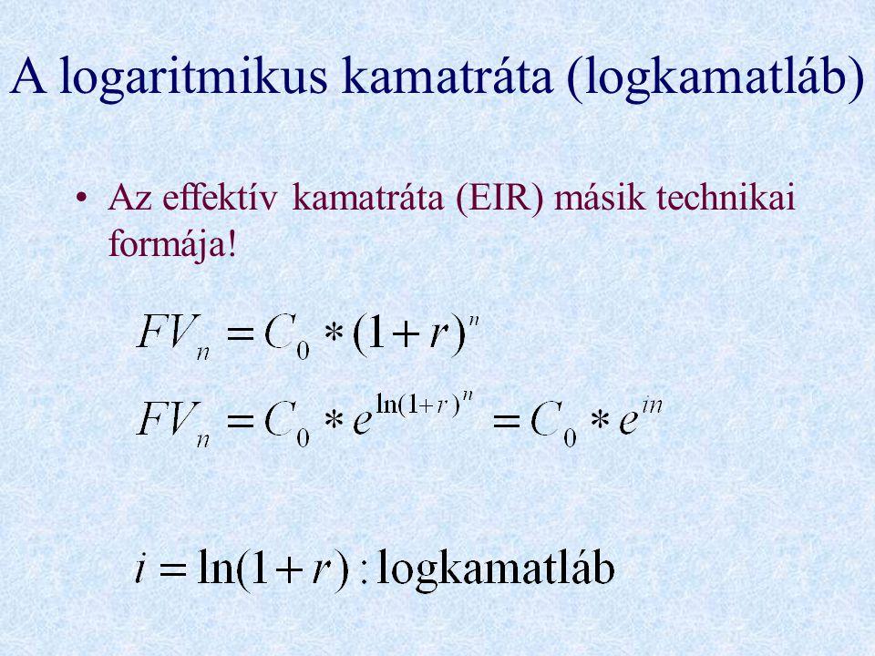 A logaritmikus kamatráta (logkamatláb)