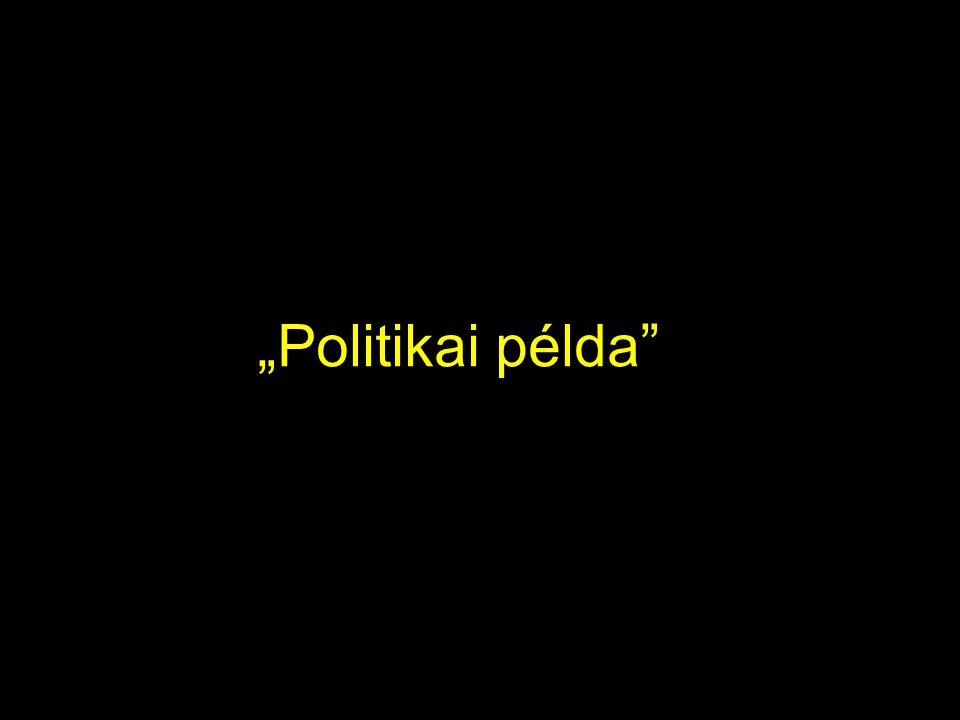 """""""Politikai példa"""