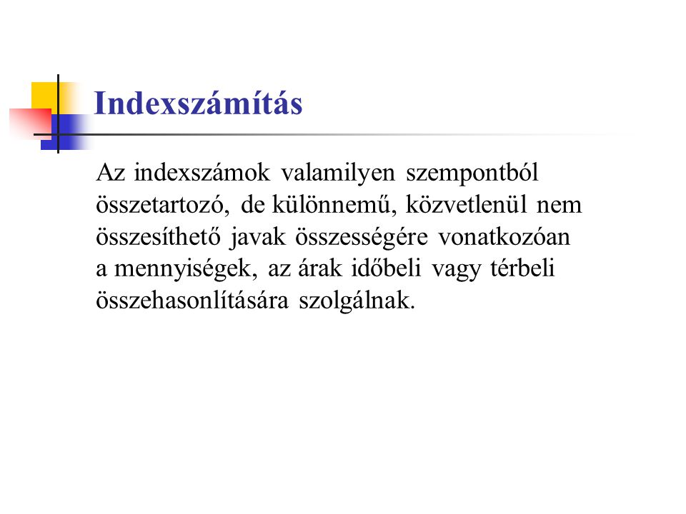 Indexszámítás