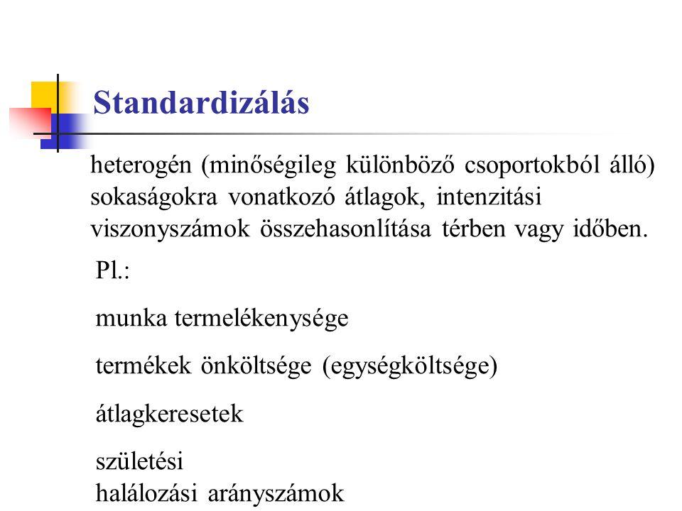 Standardizálás
