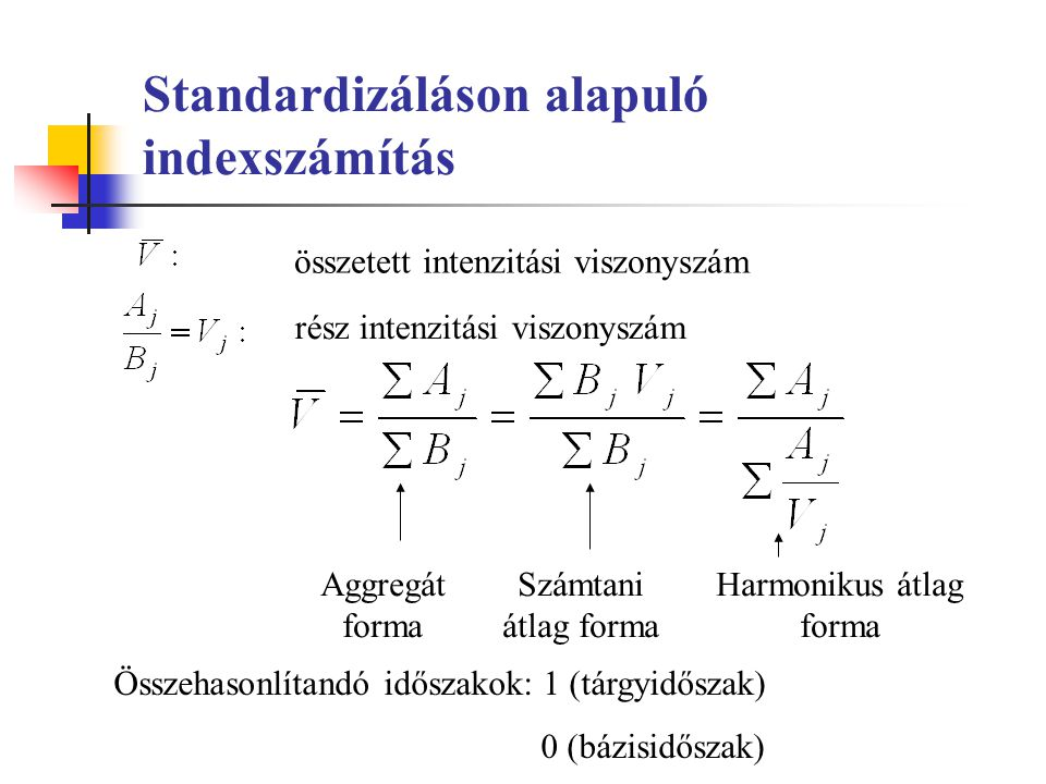 Standardizáláson alapuló indexszámítás