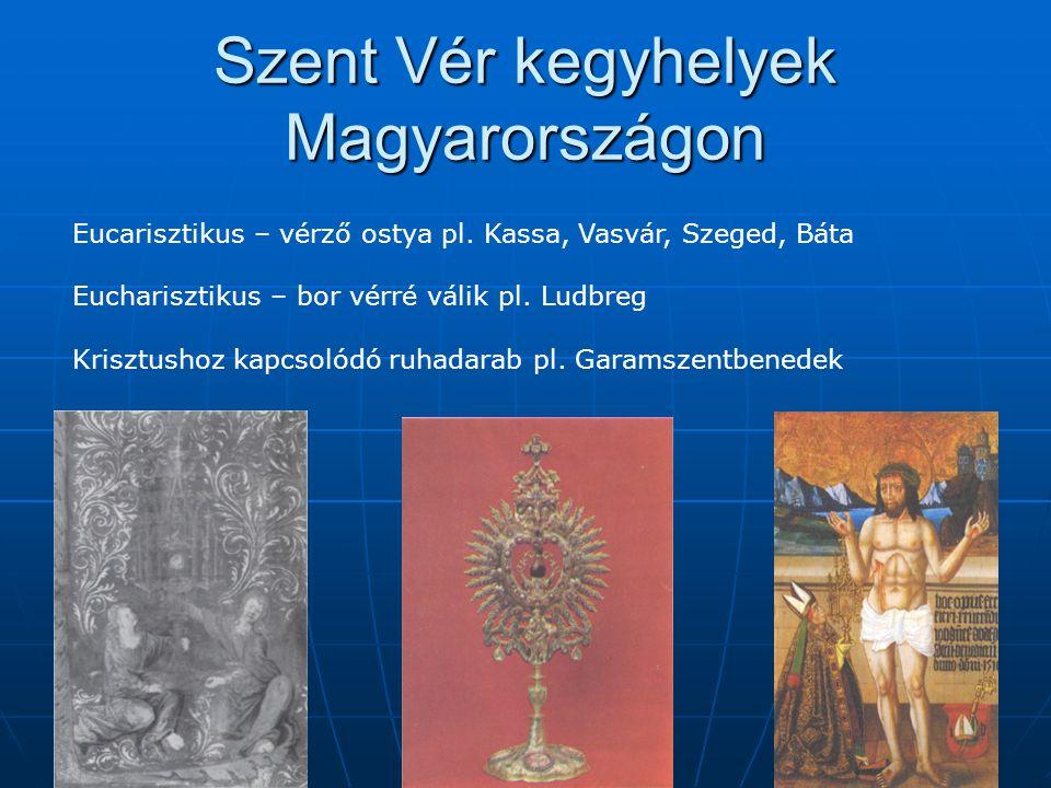 Szent Vér kegyhelyek Magyarországon