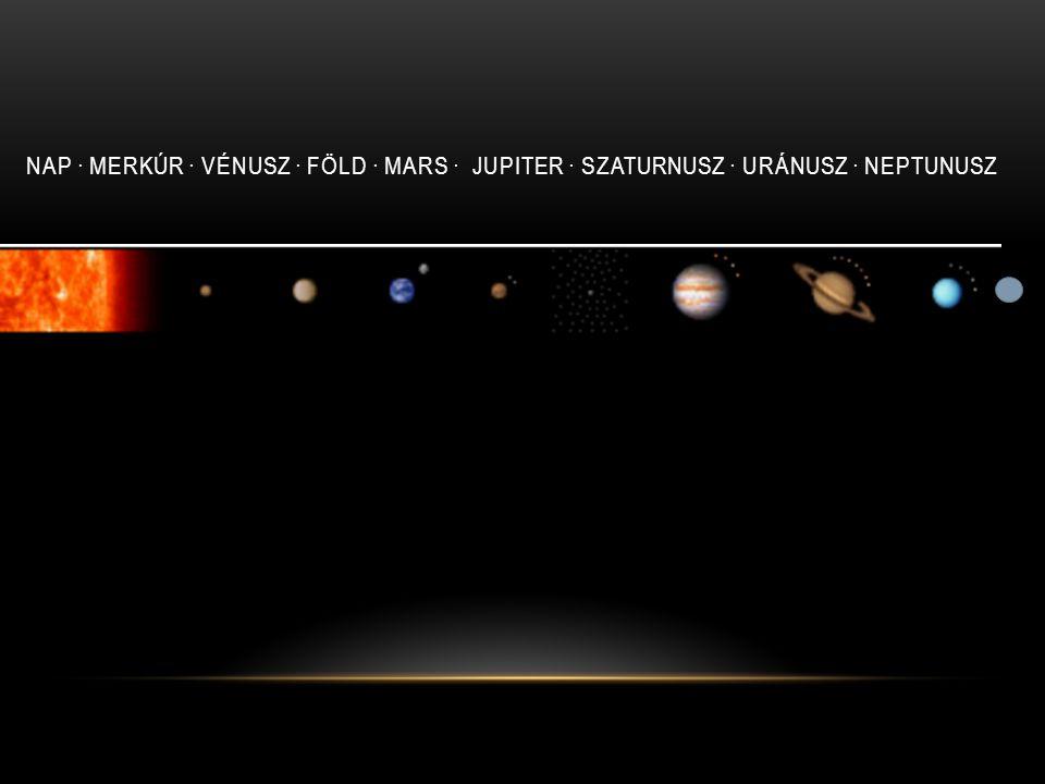Nap · Merkúr · Vénusz · Föld · Mars · Jupiter · Szaturnusz · Uránusz · Neptunusz