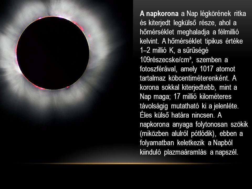 A napkorona a Nap légkörének ritka és kiterjedt legkülső része, ahol a hőmérséklet meghaladja a félmillió kelvint.