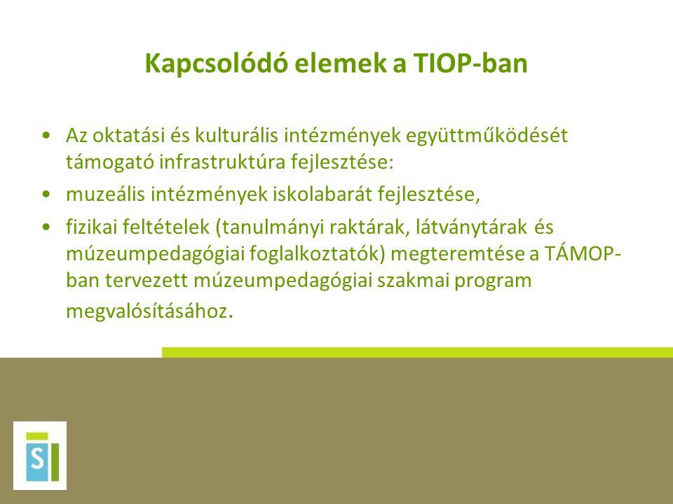 Kapcsolódó elemek a TIOP-ban
