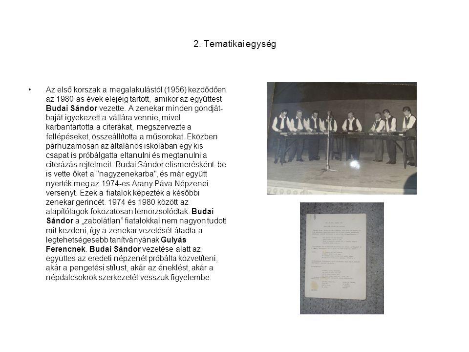 2. Tematikai egység