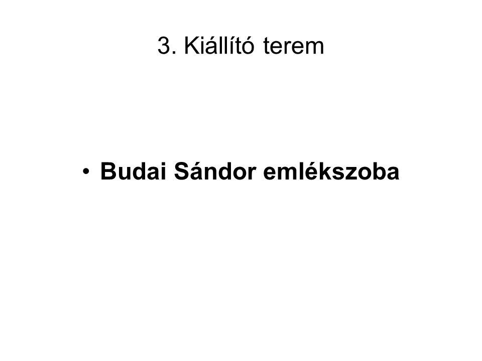 Budai Sándor emlékszoba