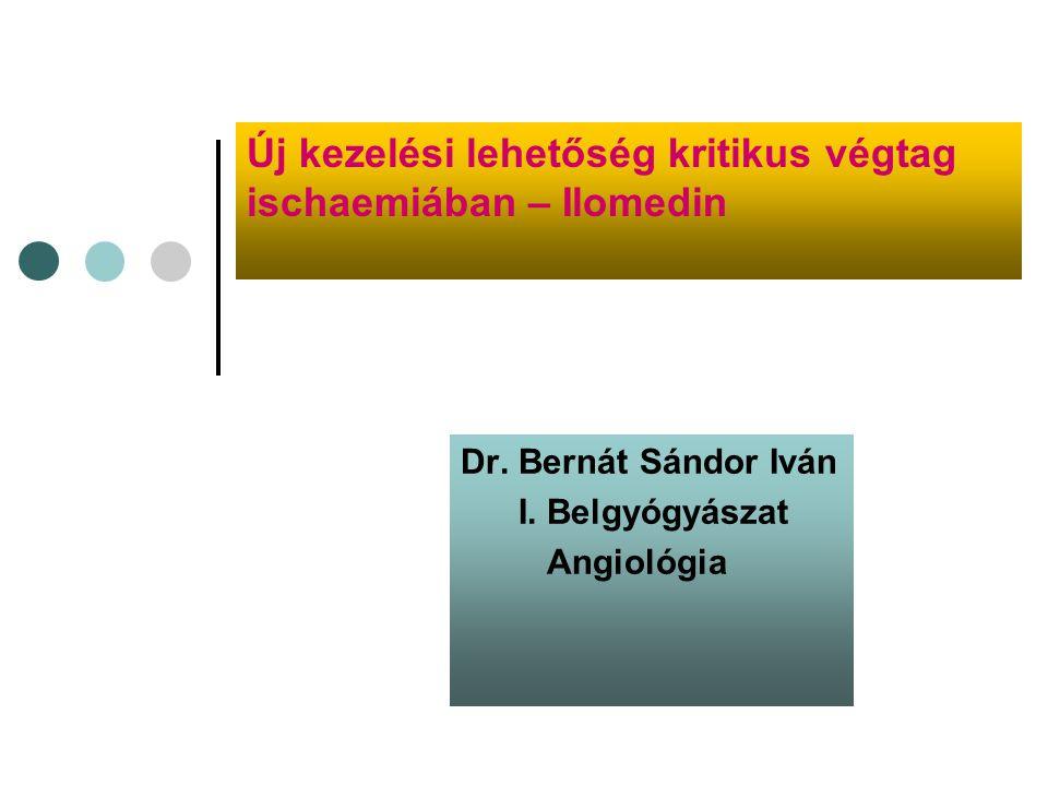 Dr. Bernát Sándor Iván I. Belgyógyászat Angiológia
