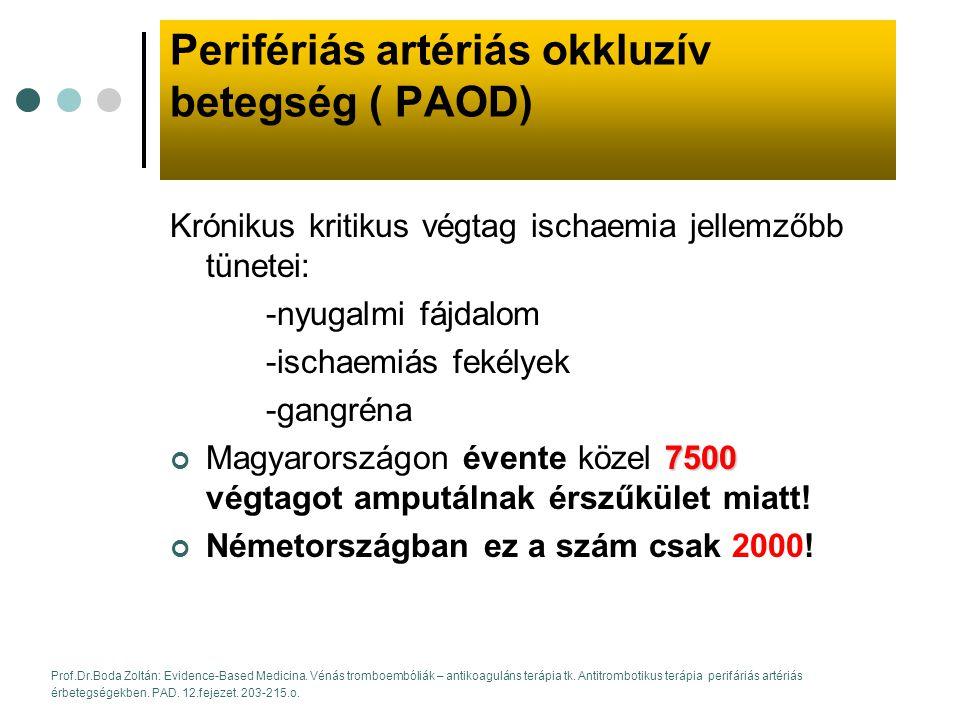Perifériás artériás okkluzív betegség ( PAOD)