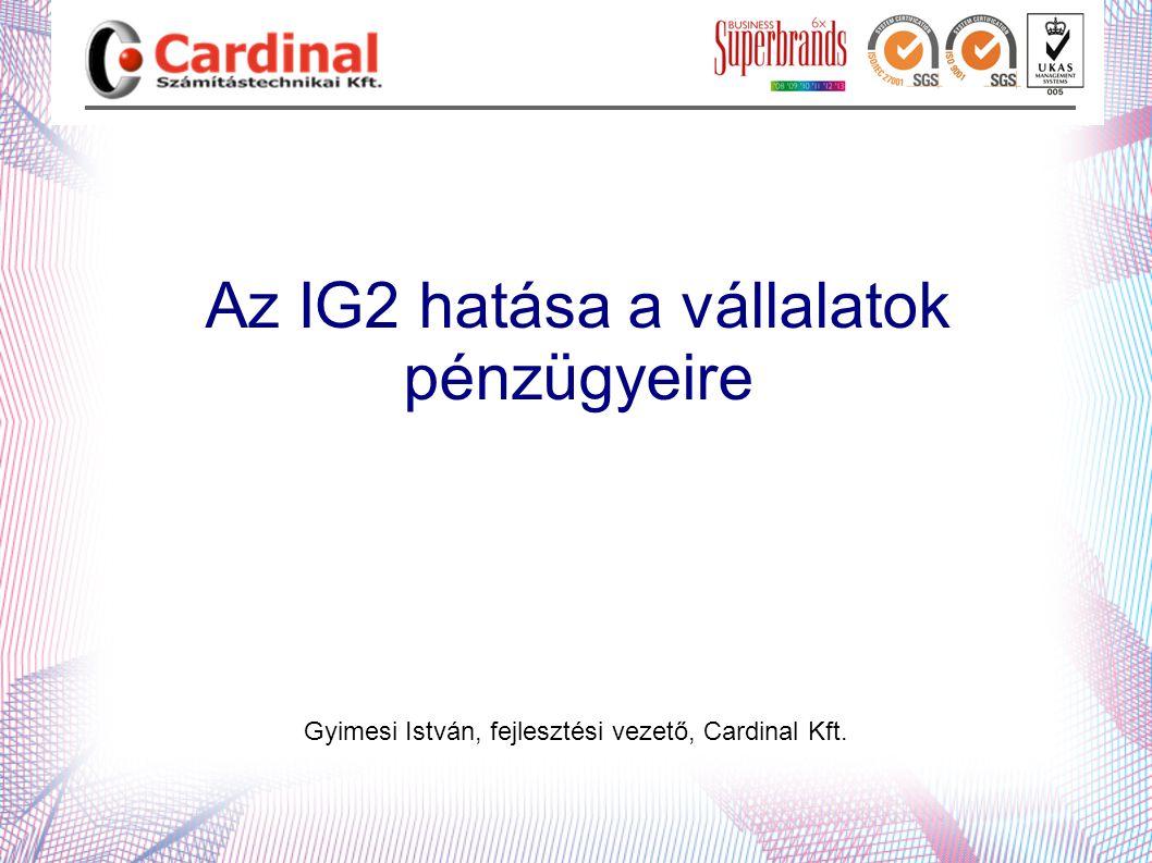 Az IG2 hatása a vállalatok pénzügyeire