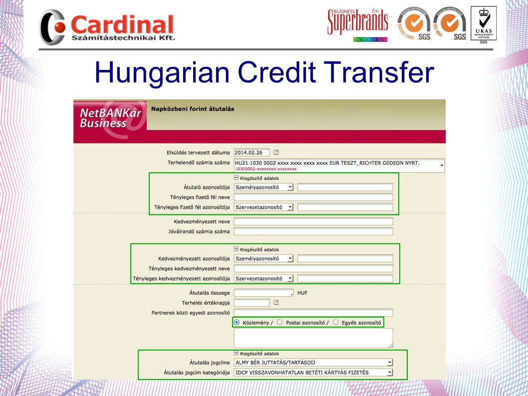 Hungarian Credit Transfer