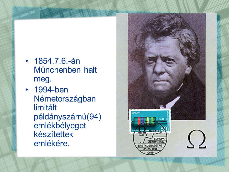 1854.7.6.-án Münchenben halt meg.