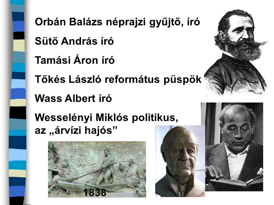 Orbán Balázs néprajzi gyűjtő, író