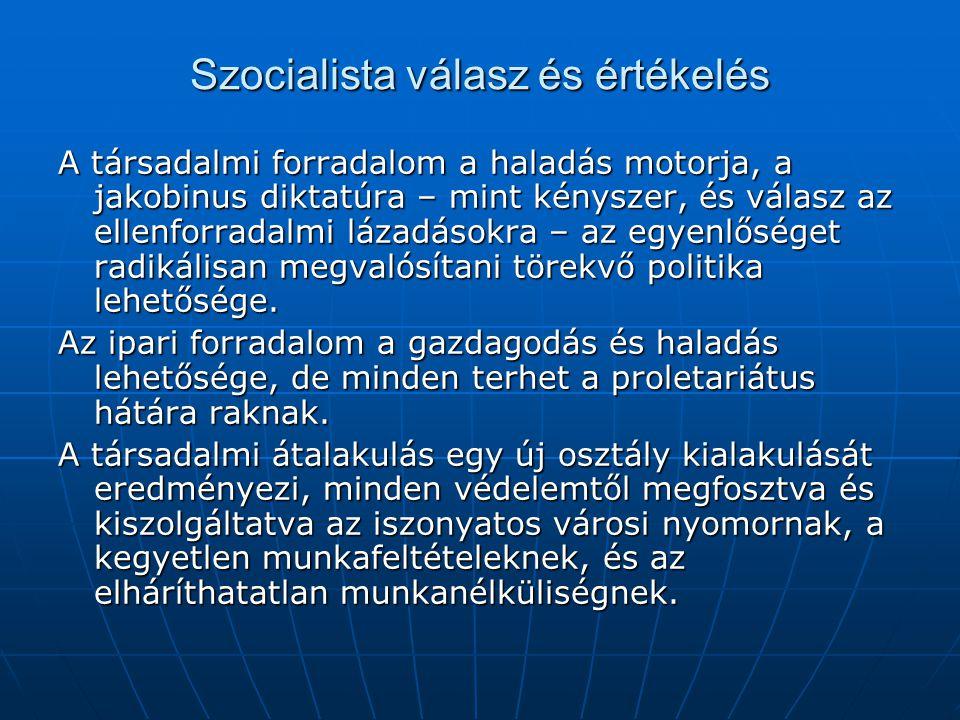 Szocialista válasz és értékelés