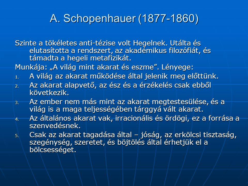 A. Schopenhauer (1877-1860)