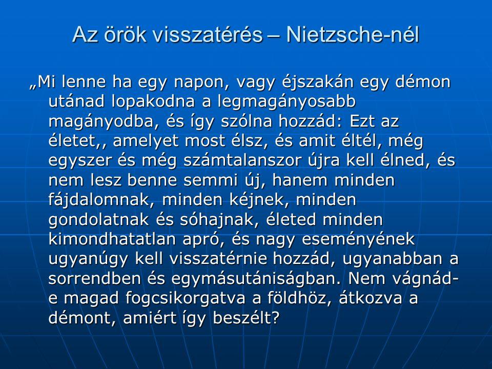 Az örök visszatérés – Nietzsche-nél