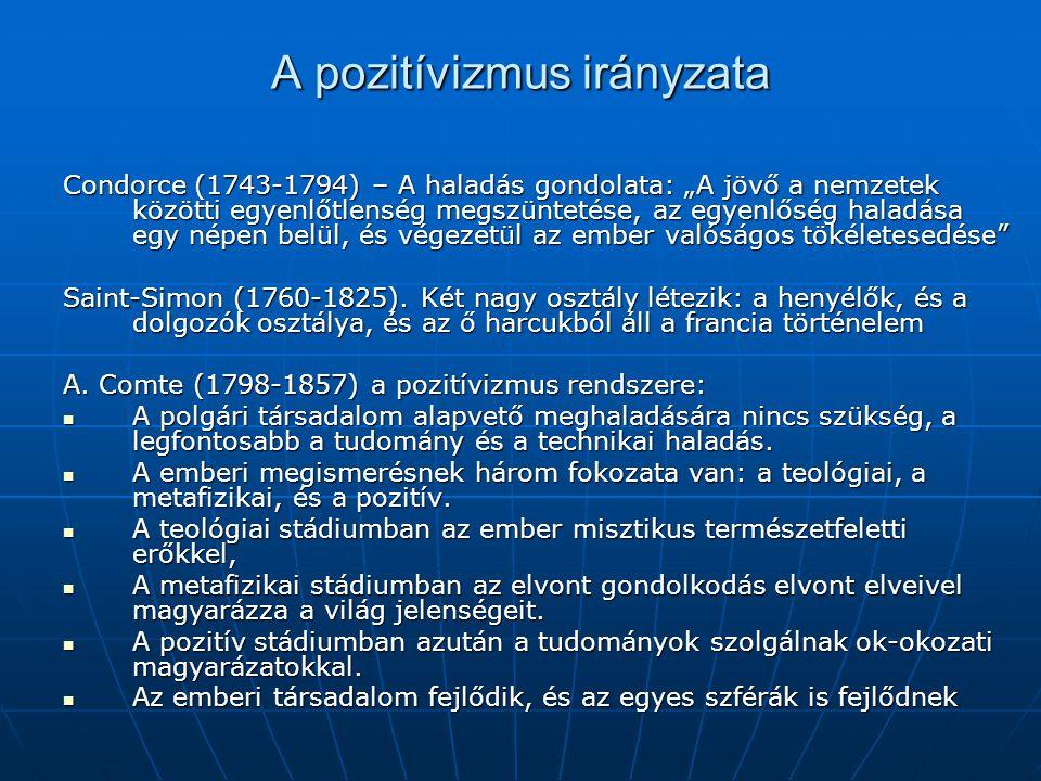 A pozitívizmus irányzata