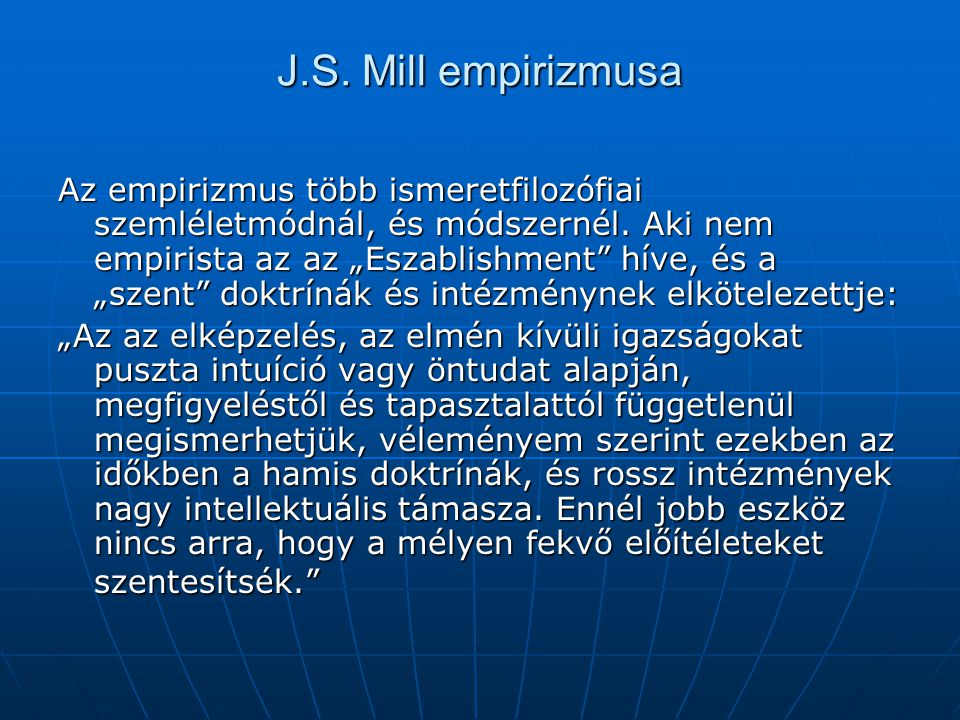 J.S. Mill empirizmusa