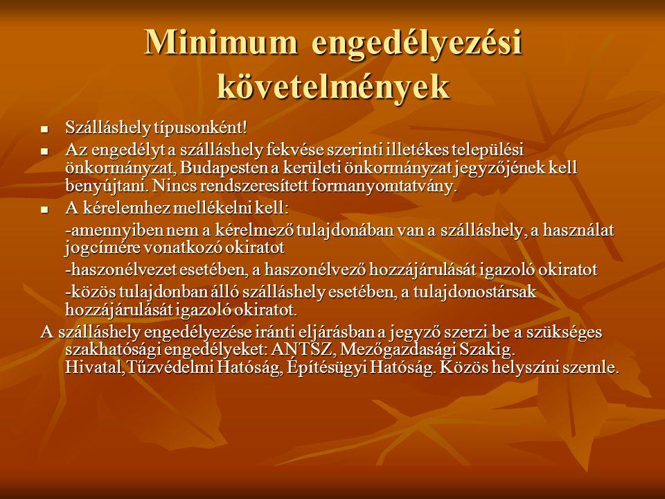 Minimum engedélyezési követelmények