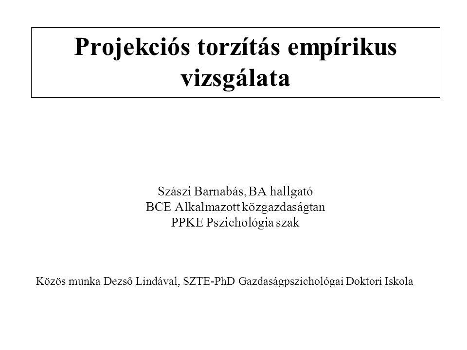 Projekciós torzítás empírikus vizsgálata