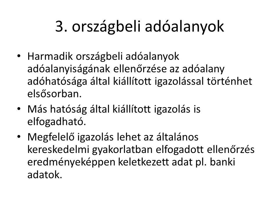 3. országbeli adóalanyok