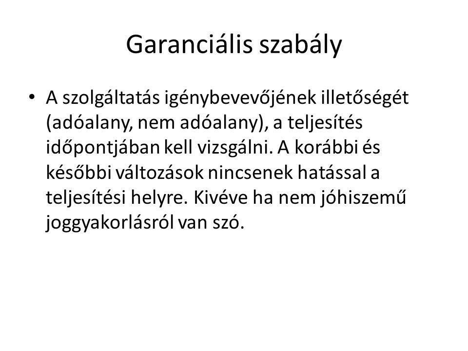 Garanciális szabály