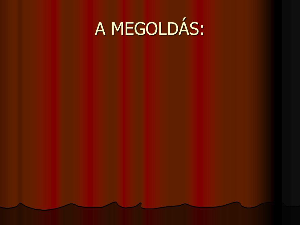 A MEGOLDÁS: