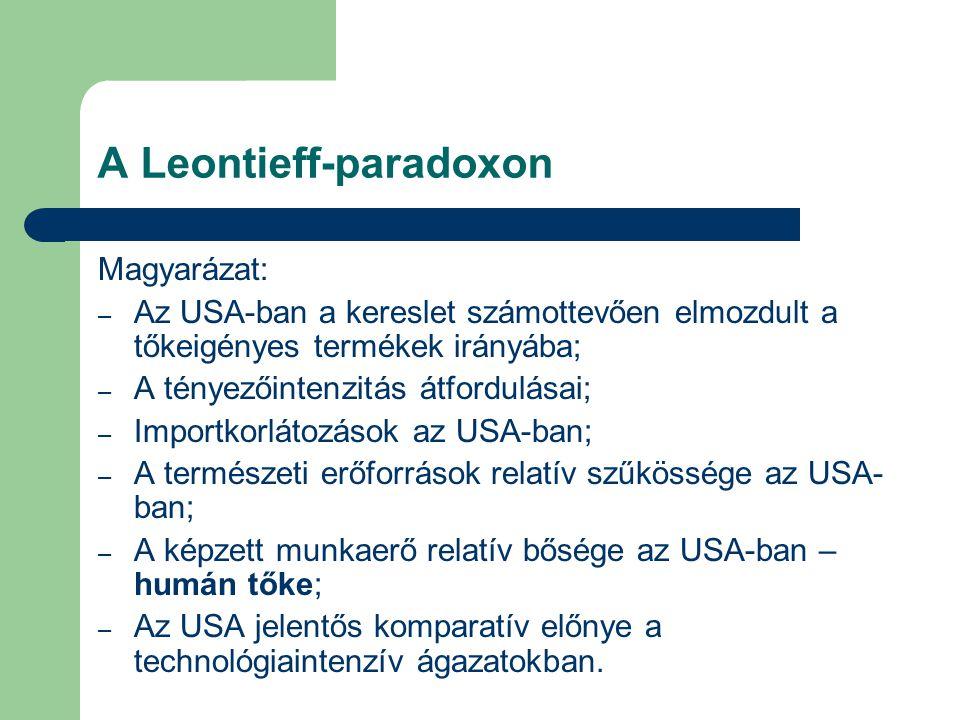 A Leontieff-paradoxon