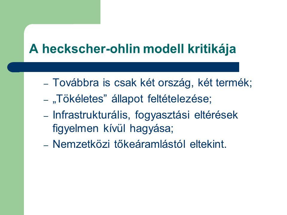A heckscher-ohlin modell kritikája