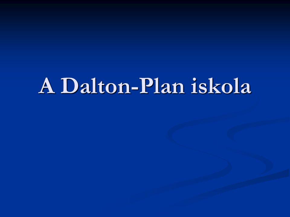 A Dalton-Plan iskola