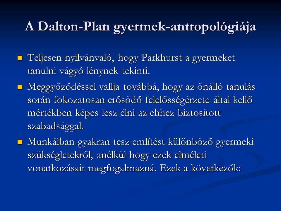 A Dalton-Plan gyermek-antropológiája