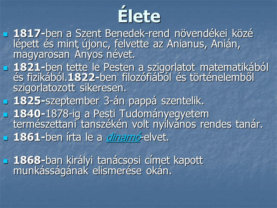 Élete 1817-ben a Szent Benedek-rend növendékei közé lépett és mint újonc, felvette az Anianus, Anián, magyarosan Ányos névet.