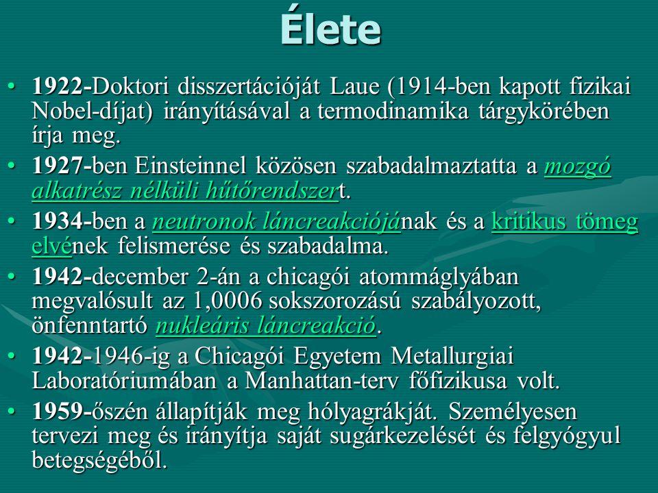 Élete 1922-Doktori disszertációját Laue (1914-ben kapott fizikai Nobel-díjat) irányításával a termodinamika tárgykörében írja meg.