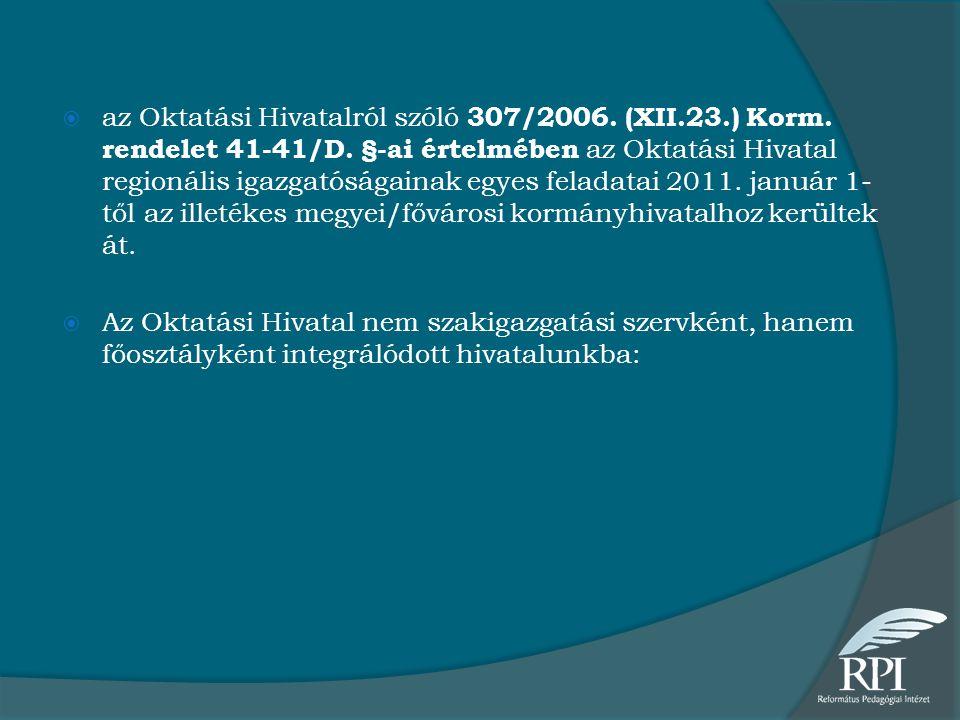 az Oktatási Hivatalról szóló 307/2006. (XII. 23. ) Korm